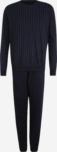 SCHIESSER Duga pidžama u tamno plava / bijela, Pregled proizvoda