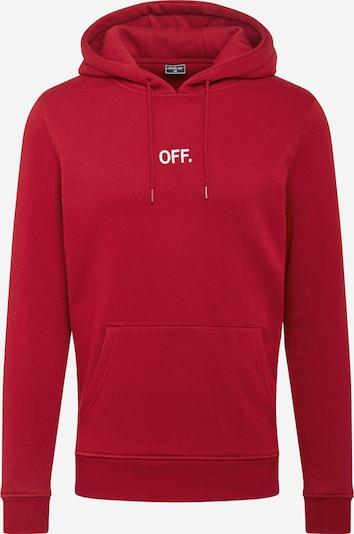 Mister Tee Sweatshirt 'OFF' in de kleur Kersrood / Wit, Productweergave