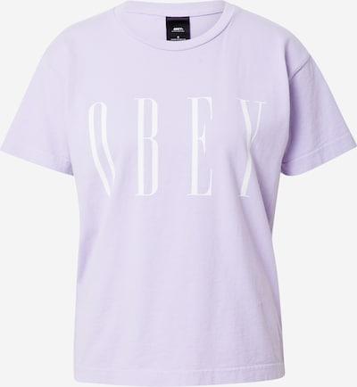 Tricou Obey pe mov / alb, Vizualizare produs