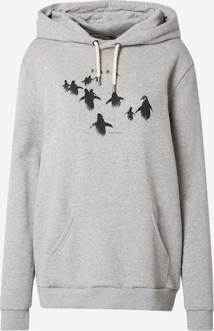 Sweat-shirt 'Animal Penguin Walk - Chipper' GREENBOMB en gris