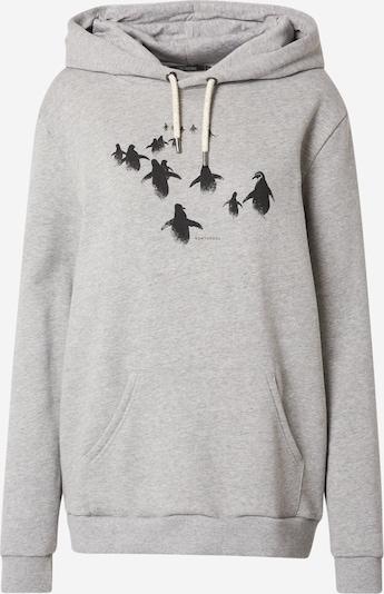 GREENBOMB Sweatshirt 'Animal Penguin Walk - Chipper' in grau / schwarz, Produktansicht