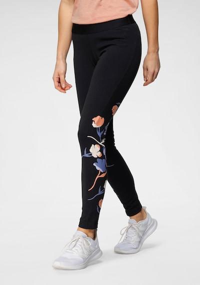 ADIDAS PERFORMANCE Sporthose in opal / taubenblau / koralle / schwarz / weiß, Modelansicht