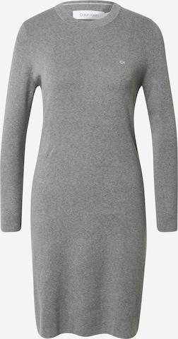 pelēks Calvin Klein Adīta kleita
