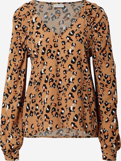 VILA Blusa 'KITTIE' en marrón / negro / blanco, Vista del producto