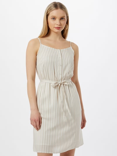 VILA Kleid 'HARPER' in beige / weiß, Modelansicht