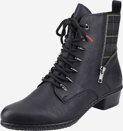 RIEKER Lace-Up Ankle Boots in Light yellow / Dark grey / Black, Item view