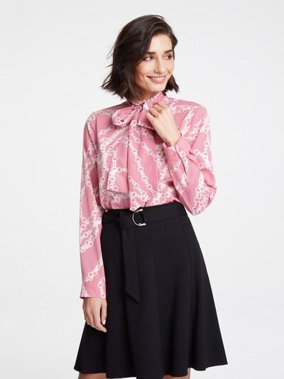 heine Bluse in rosa / weiß: Frontalansicht