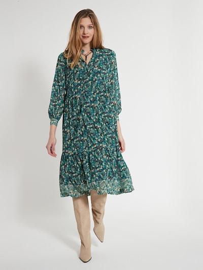 Ana Alcazar Kleid in beige / creme / dunkelrot, Modelansicht