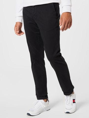 TOMMY HILFIGER Chino Pants 'DENTON' in Black