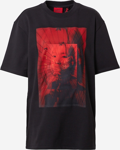 HUGO Paita 'Duzuki' värissä tummanpunainen / musta, Tuotenäkymä
