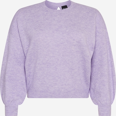 PIECES Pull-over 'Any' en violet chiné, Vue avec produit