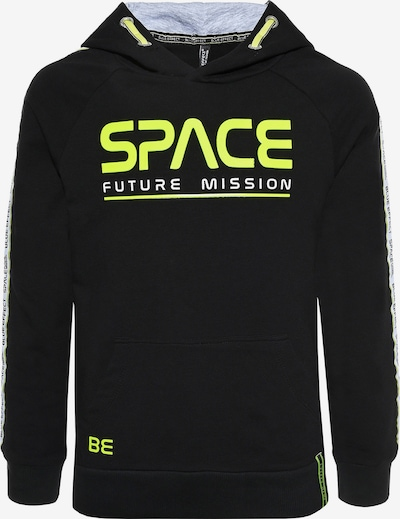 BLUE EFFECT Hoodie 'Space' in gelb / schwarz, Produktansicht