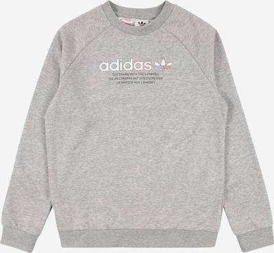 ADIDAS ORIGINALS Sudadera en gris moteado / blanco, Vista del producto
