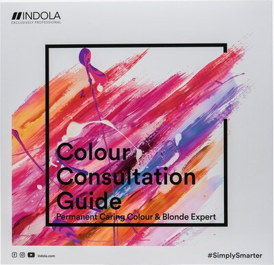 INDOLA Farbkarte mit Strähnen in, Produktansicht