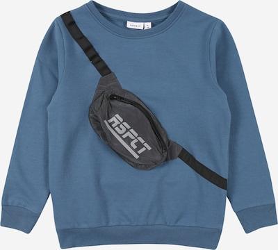 NAME IT Sweatshirt 'TOMA' in de kleur Blauw / Grijs / Zwart, Productweergave