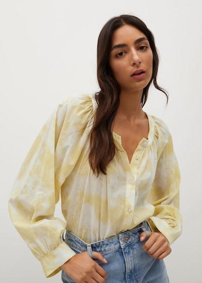 MANGO Bluse in gelb / weiß, Modelansicht