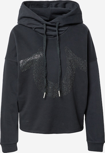 True Religion Sweat-shirt 'HOODY CROP BOXY HORSESHOE' en noir, Vue avec produit