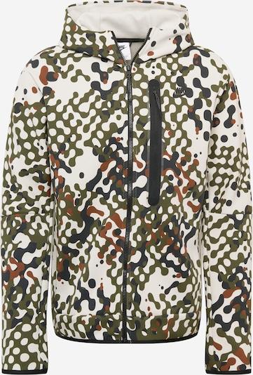 Hanorac Nike Sportswear pe crem / albastru închis / maro / kaki, Vizualizare produs