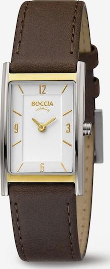 Boccia Titanium Uhr in braun / gold / silber, Produktansicht