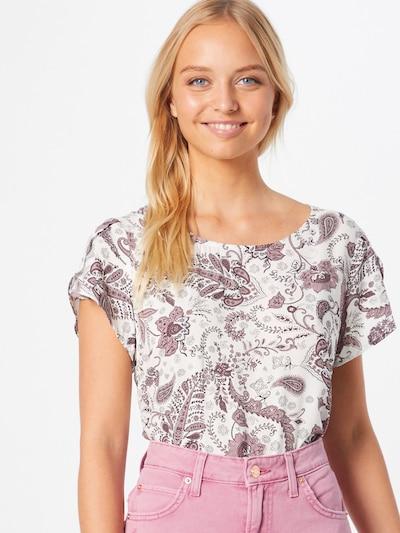 Soyaconcept Bluse 'SAMMY' in lila / weiß, Modelansicht