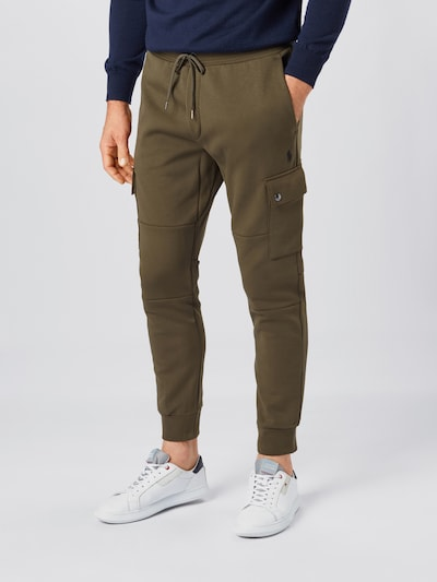 POLO RALPH LAUREN Pantalon cargo en olive, Vue avec modèle