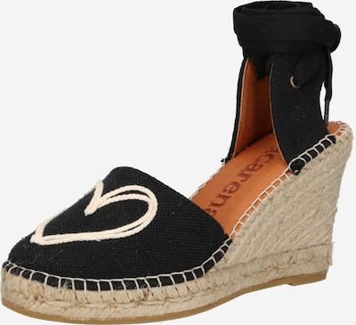 MACARENA Sandale 'CARLA' in beige / schwarz, Produktansicht