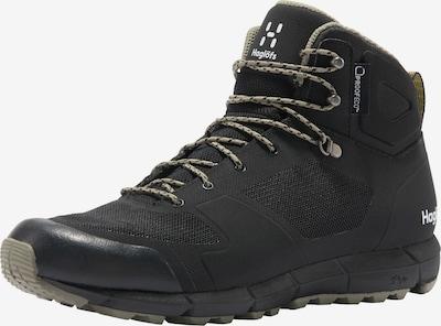 Haglöfs Boots 'L.I.M Mid Proof Eco' in de kleur Zwart / Wit, Productweergave