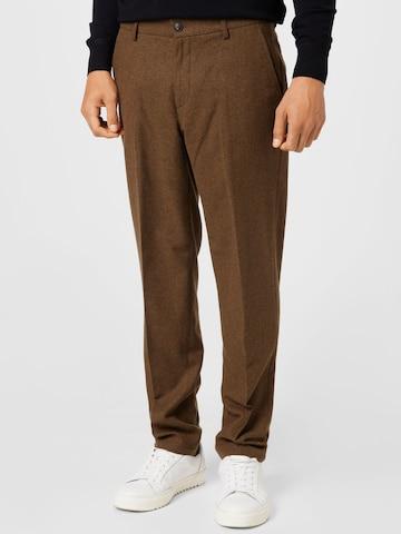 Pantalon à plis Les Deux en marron