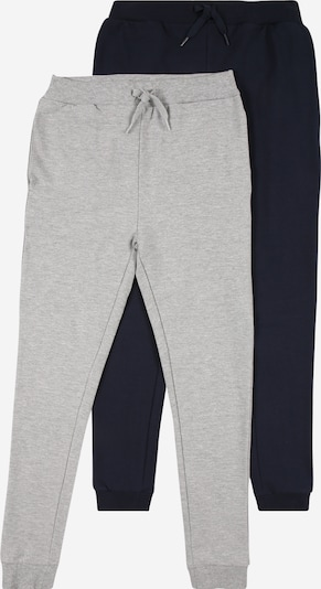 NAME IT Pantalon 'RALPHS' en bleu foncé / gris chiné, Vue avec produit