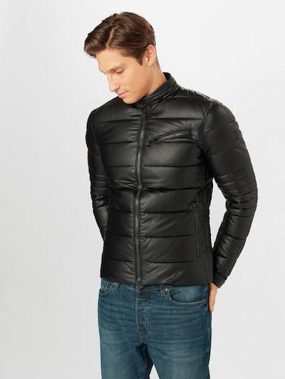 SAVE THE DUCK Overgangsjakke i sort: Frontvisning