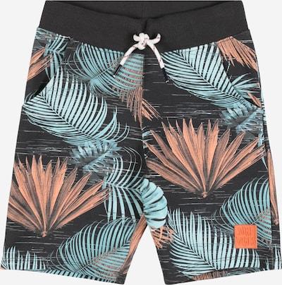 NAME IT Shorts 'Fazok' in türkis / kobaltblau / pastellorange, Produktansicht