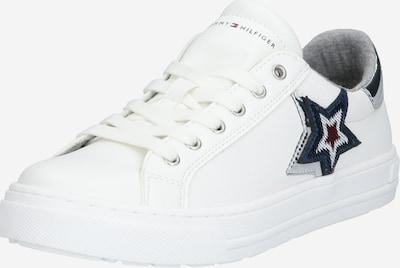 TOMMY HILFIGER Brīvā laika apavi tumši zils / pelēks / tumši sarkans / Sudrabs / balts, Preces skats
