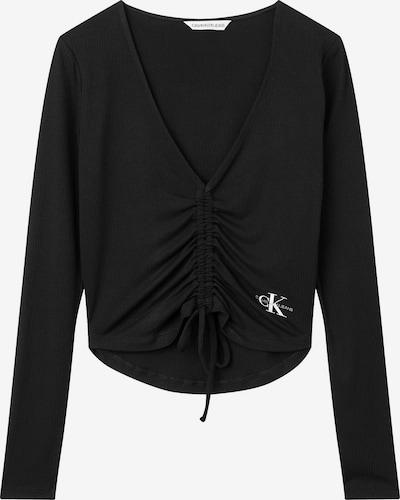Tricou Calvin Klein Jeans pe negru / alb, Vizualizare produs