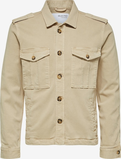 SELECTED HOMME Hemdjacke in beige, Produktansicht