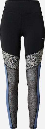 ONLY PLAY Pantalon de sport 'JUDIEA' en bleu fumé / noir / noir chiné, Vue avec produit
