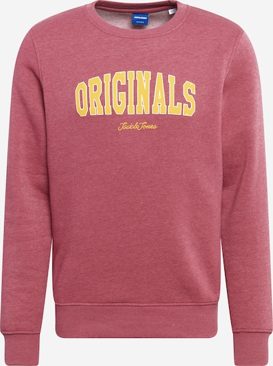 JACK & JONES Sweat-shirt 'Rhart' en jaune / rose, Vue avec produit