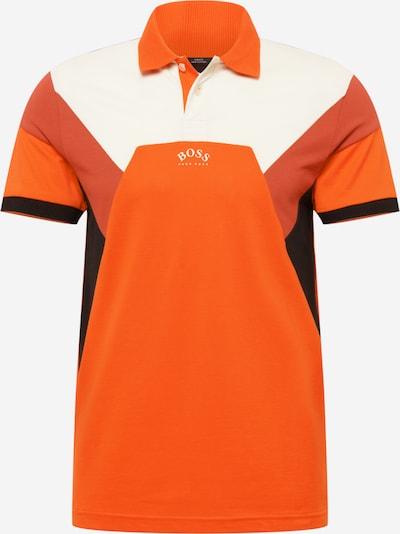 BOSS ATHLEISURE Shirt 'Paule' in Auburn / Orange / Black / White, Item view
