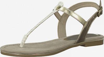 MARCO TOZZI Žabky - zlatá / režná / světle šedá, Produkt