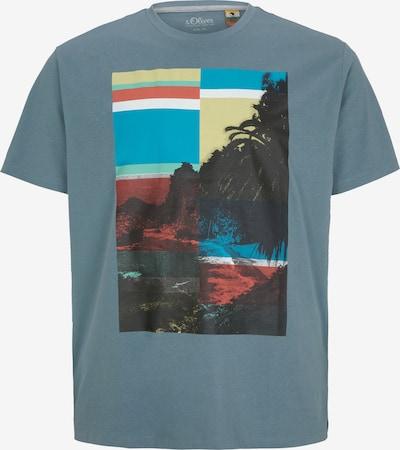 s.Oliver Men Big Sizes T-Shirt in taubenblau / mischfarben, Produktansicht