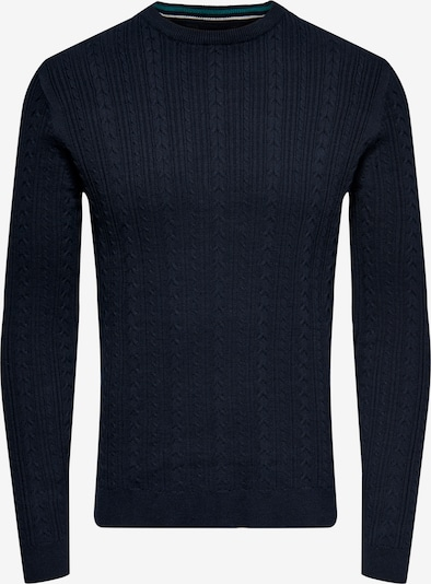 Only & Sons Pullover 'Rige' in navy, Produktansicht