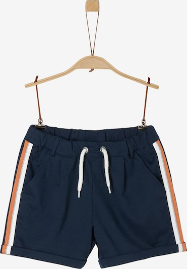 s.Oliver Shorts in nachtblau / orange / weiß, Produktansicht