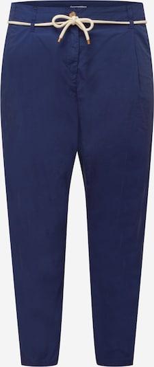 Pantaloni con pieghe Esprit Curves di colore navy, Visualizzazione prodotti
