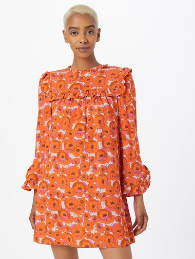 narancs / rózsaszín / fehér Hofmann Copenhagen Ruha 'Julia': Elölnézet