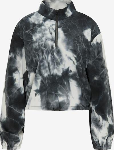 myMo ATHLSR Sweatshirt in blau / schwarz / weiß, Produktansicht