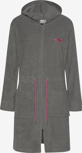 KangaROOS Damenbademantel 'Kira' in grau / rosa, Produktansicht