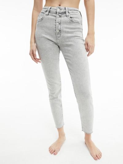 Calvin Klein Jeans Jeans in hellgrau, Modelansicht
