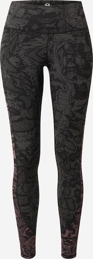 UNDER ARMOUR Sportbroek 'Rush' in de kleur Grijs / Donkerroze / Zwart, Productweergave