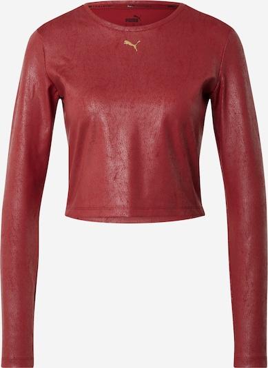 PUMA Sportshirt in gold / dunkelrot, Produktansicht