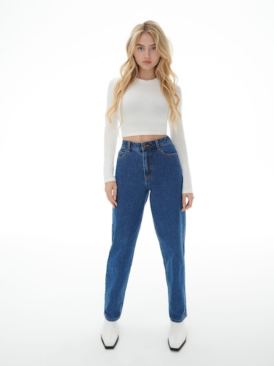 LENI KLUM x ABOUT YOU Jeans 'Anna' in blue denim, Modelansicht