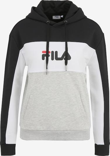 FILA Kapuzenpullover 'WOMEN AQILA' in hellgrau / schwarz / weiß, Produktansicht